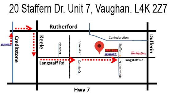 New Vaughan Location Now Open! Click for Larger map