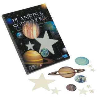 GLOW-IN-THE-DARK PLANETS & SUPER NOVA-100PCS