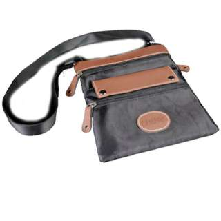 CANADA SOUVENIR FLAP BAG 8X9IN BLACK/BROWN