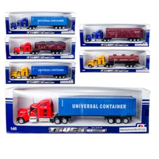 TRUCK DIE CAST FREE WHEEL CONTAINER ASSORTED