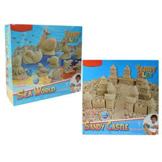 SANDY CLAY SET ASSORTED STYLES 10 MOULDS