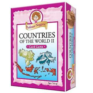 COUNTRIES OF THE WORLD II PROFESSOR NOGGIN`S CARD GAME