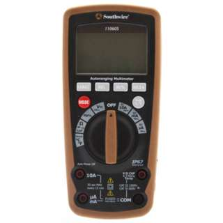MULTIMETER DIGITAL AUTO 10A IP67 RATING AMP/RES/CAP/FREQ/TEMP/CON