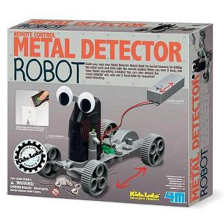 ROBOT METAL DETECTOR KIT WITH REMOTE CONTRL