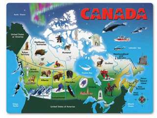 "CANADA MAP PUZZLE -AGES 5+ 11.8""X15.5"" WHEN ASSEMBLED