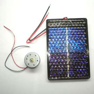 SOLAR CELL KIT WITH MOTOR .7-5V 2200RPM 2MM SHAFT 200MA CELL