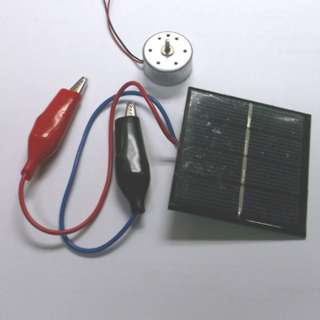 SOLAR CELL KIT WITH MOTOR .7-5V 2200RPM 2MM SHAFT 2VDC@200MA CEL