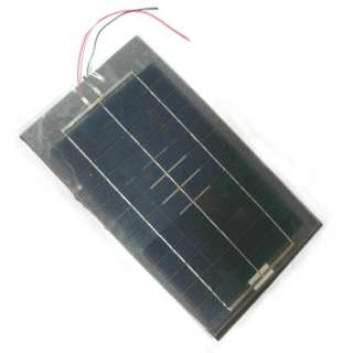 SOLAR PANEL 6V 900MA 7X12IN FLEXIBLE WITH WIRES