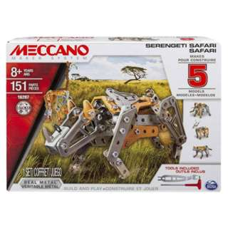 MECCANO SERENGETI SAFARI 5 MODEL SET 151PARTS TOOLS INCLUDED