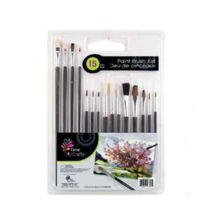 BRUSH PAINTING ASSORTED SIZES 15PCS SET