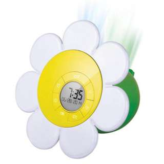 CLOCK ALARM PROJECTION LIGHT DAISY BLOOM