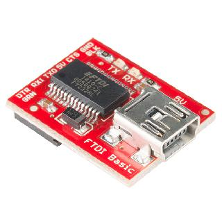 FTDI BREAKOUT BOARD WITH 5V FOR ARDUINO SPARKFUN