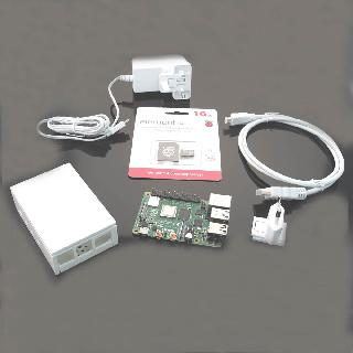 RASPBERRY PI4 B STARTER KIT 4GB 16GB MSD W/NOOBES PWR SUPP CASE