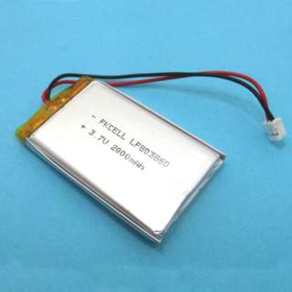 BATTERY LIPO 3.7V 2000MAH WITH WIRES
