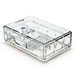 RASPBERRY PI 3 2 & B+ ENCLOSURE CLEAR PLASTIC TOOLLESS