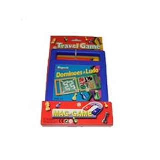 TRAVEL MAGNETIC GAMES 2-IN-1 DOMINOES & LUDO