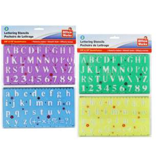 ALPHABET/NUMBER STENCIL 5/8 & 7/8IN ASSORTED COLORS