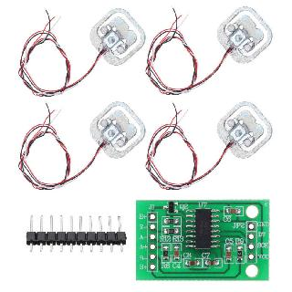 LOAD CELL WEIGHT STRAIN SENSOR KIT 50KG 4PCS WITH HX711 MODULE