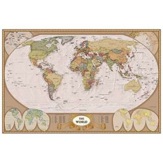 MAP OF THE WORLD POSTER 36X24 IN 