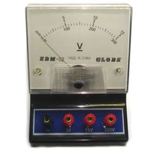 METER ANALOG BENCHTOP 0-300VDC 0-3V 0-15VDC VOLTMETER EDUCATION