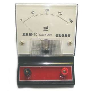 METER ANALOG BENCHTOP 0-200MA DC AMMETER EDUCATIONAL