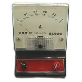 METER ANALOG BENCHTOP 0-1A DC AMPMETER EDUCATIONAL