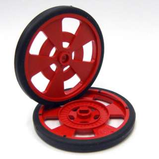WHEEL PLASTIC 69MM DIA RED 7.62MM WIDE