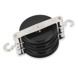 PULLEY TRIPLE PARALLEL W/METAL HOOKS