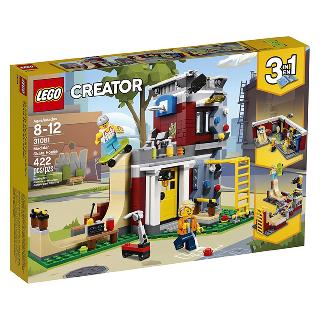<strong>31081</strong><br>MODULAR SKATE HOUSE-CREATOR 422PCS/SET