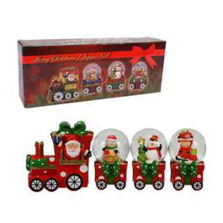 CHRISTMAS WATER BALL TRAIN SET DECORATION