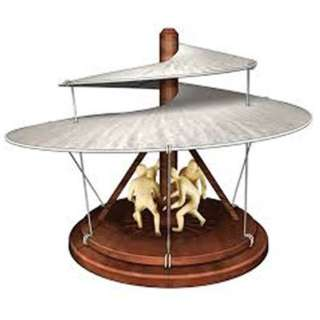 THE AERIAL SCREW LEONARDO DA VINCI MODEL KITS