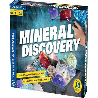 MINERAL DISCOVERY KIT WITH 6 EXPERIMENTS