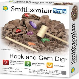 ROCK & GEM DIG STONES WITH MALLET DOWELL POUCH INSTRUCTIONS