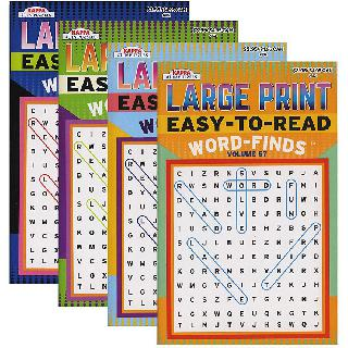 WORD FINDS EASY TO READ PUZZLE ASSORTED
