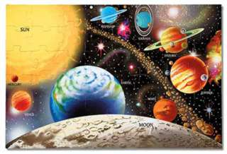 "SOLAR SYSTEM FLOOR PUZZLE-AGES3+ 24""LX36""W WHEN ASSEMBLED