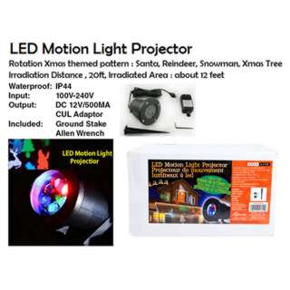 LED MOTION LIGHT PROJECTOR INDOOR/OUTDOOR