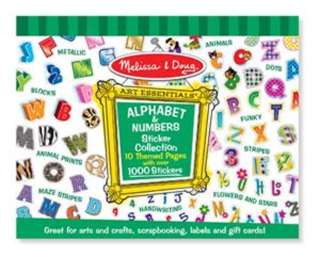 STICKER COLLECTION-ALPHABET AND NUMBERS
