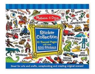 STICKER COLLECTION-BLUE 10 THEMED PAGES W/500+ STICKERS