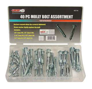 MOLLY BOLT ANCHOR ASSORTED 