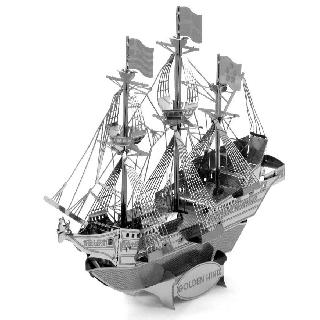 GOLDEN HIND 3D LASER CUT MODEL 2SHEETS