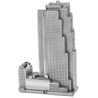 ROCKFELLER PLAZA 3D LASER CUT MODEL 2SHEETS