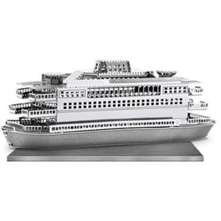 FERRY BOAT METAL EARTH 3D LASER CUT MODEL