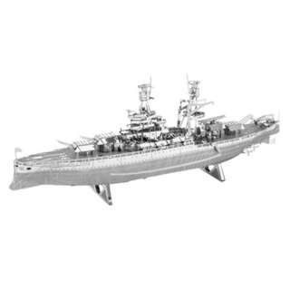 ARIZONA BATTLESHIP- METAL EARTH 3D LASER CUT TWO SHEET MODEL KIT