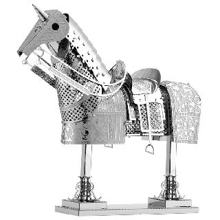 HORSE ARMOR METAL EARTH 3D LASER CUT MODEL