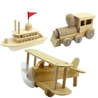 BUILD IT YOURSELF TRAIN/BOAT PLANE WOODEN CONSTRUCTION KIT