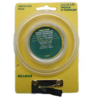 NYLON CLEAR CORD 25FT DISPENSER PACK SAFE WORK LOAD 10BS