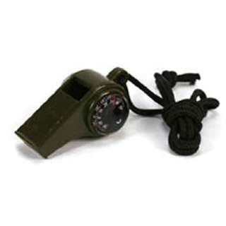 WHISTLE WITH COMPASS THERMOMETER GOOD FOR CAMPING