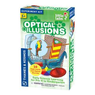 OPTICAL ILLUSIONS- LITTLE LABS 10 EXPERIMENTS 16 MANUAL PAGES