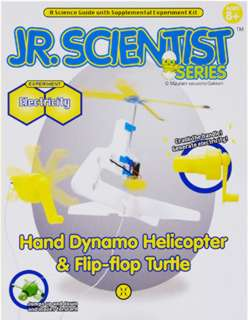 HAND DYNAMO HELICOPTER & FLIP-FLOP TURTLE SCIENCE KIT