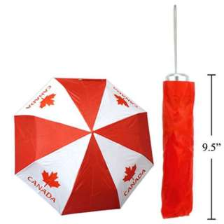 CANADA SOUVENIR FOLDING UMBRELLA W/POUCH 32IN DIAMETER